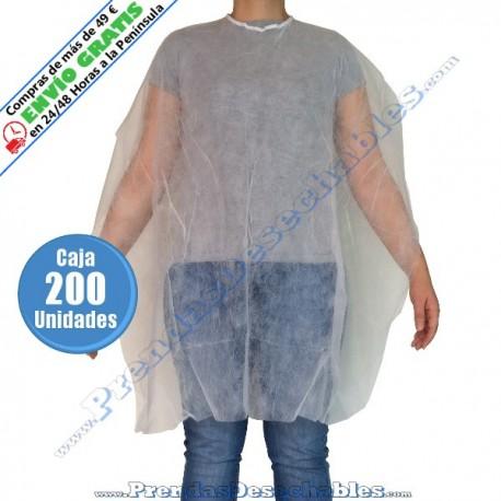 Capa de Corte PP SMS Blanco con Cintas - Frente - 200