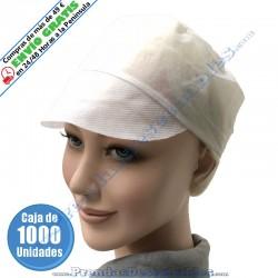 Gorro PP TNT Blanco con Visera - 1000