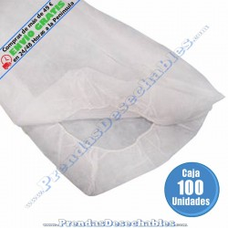 Sábana PP SMS Plus 95 x 220 cm Ajustable Blanco - 100