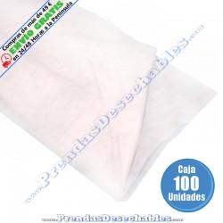Sábana PP SMS 180 x 210 cm Blanco sin elástico - 100