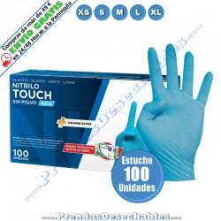 Guantes de Nitrilo Azul Touch