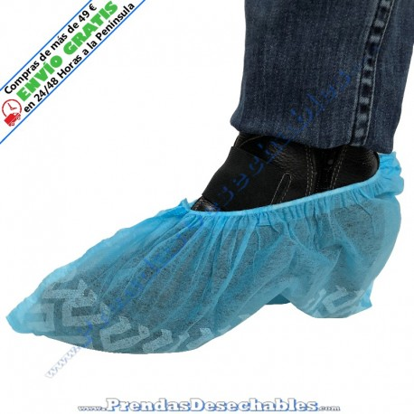 Cubrezapatos Antideslizante PP TNT Azul