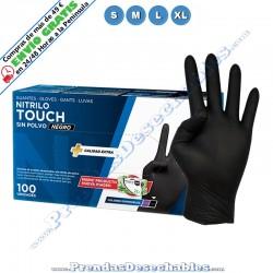 Guantes de Nitrilo Negro Touch