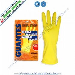 Guantes de Látex Flocado Amarillo