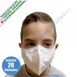 Mascarilla Infantil FFP2 Blanco - Frente - 20