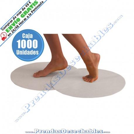 Alfombrilla Desechable Circular PP TNT Blanco - 1000