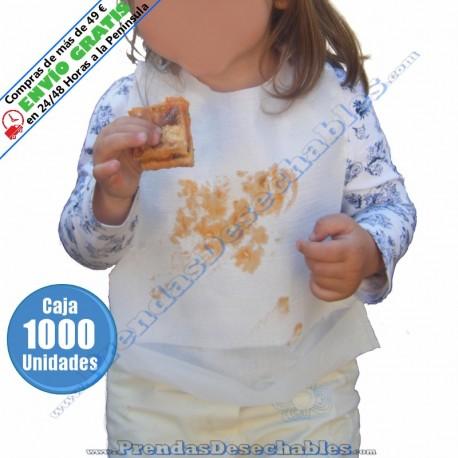 Babero Infantil Blanco con Bolsillo - 1000
