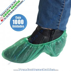 Cubrezapatos de Polietileno Verde - 1000