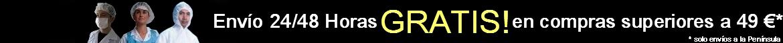 Envío 24 / 48 Horas y GRATIS! en compras superiores a 49 € a toda la Península!